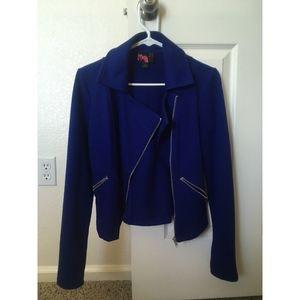 Royal Blue Moto Jacket Small
